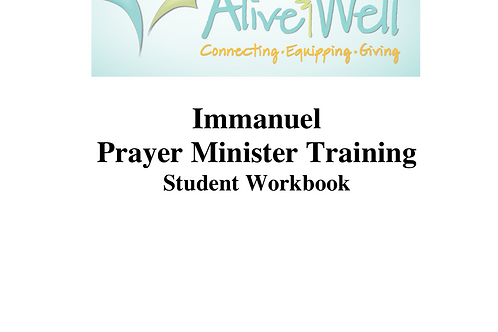 Immanuel PM Training Workbook PDF