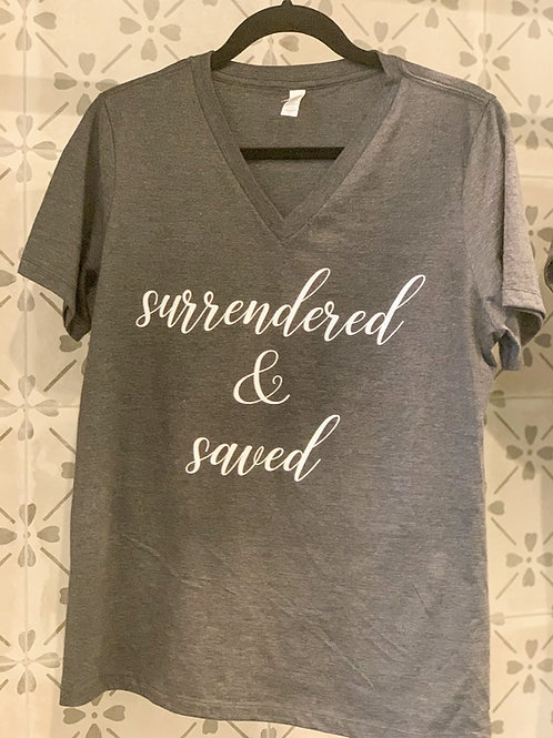 Surrendered & Saved V-Neck T-Shirt