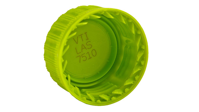Laser VJ7510 bottle cap