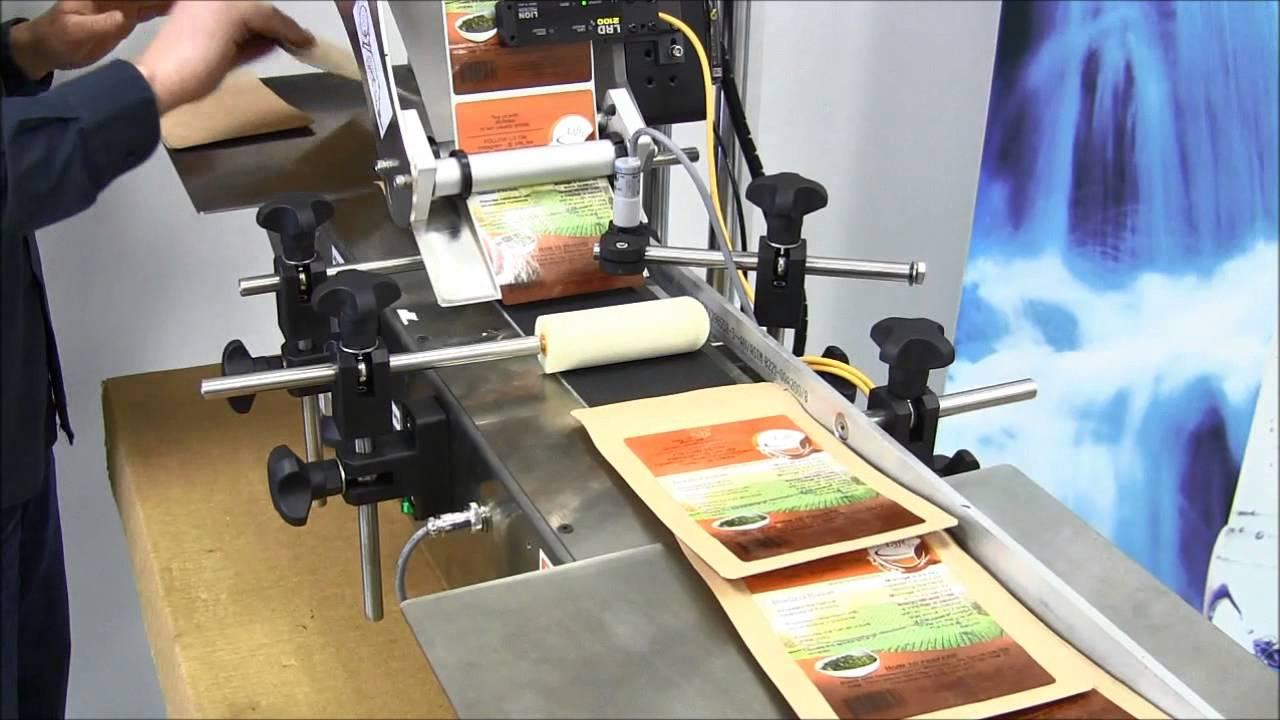 LabelJet 210 label printing