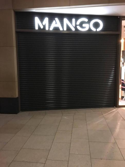 shopping centre roller shutters