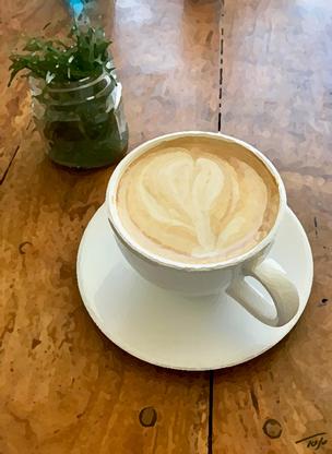 Cappuccino & Succulent