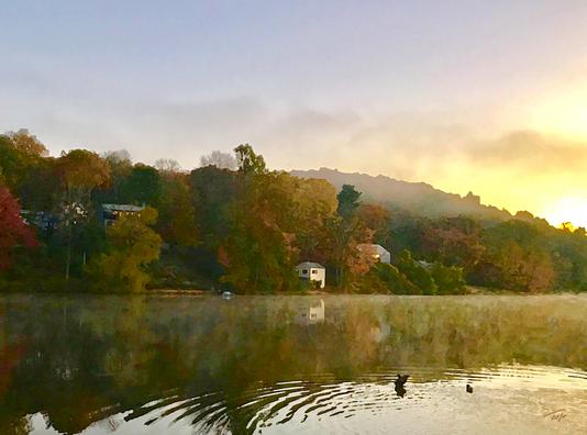 Fall Dawn on Rainbow Lake