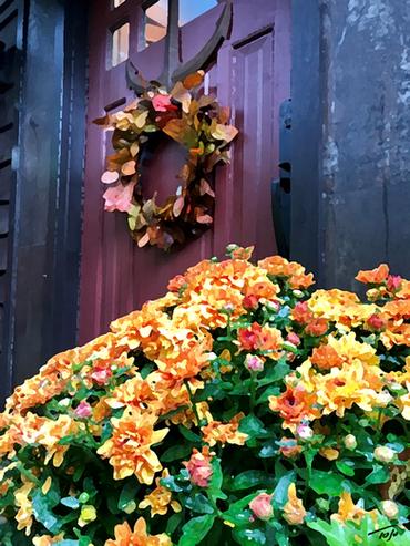 Wreath & Mum