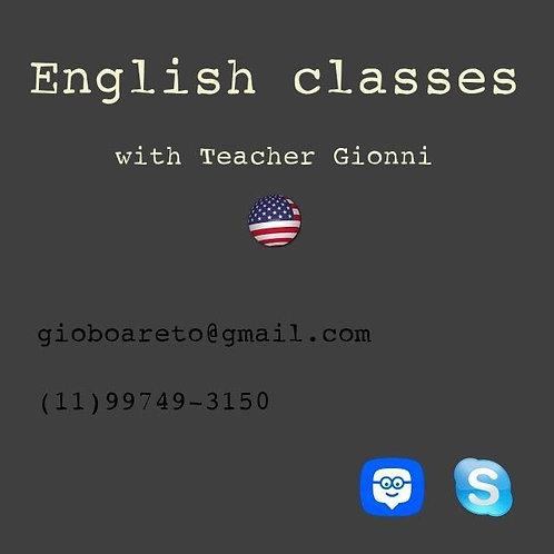 Aula de inglês - Ensino a distância