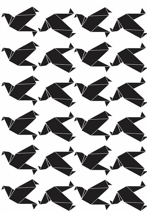 Mini adesivos Pássaros