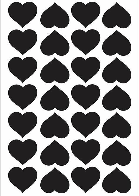 Mini adesivos Coração