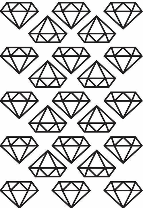 Mini adesivos Diamante