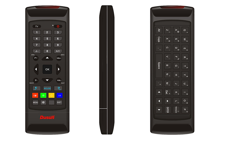 2.4G Android TV Remote Control with Qwerty Keyboard - Dusun