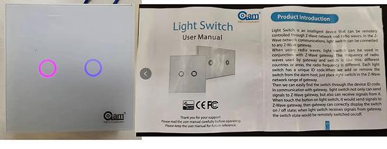 Figure 5 the Z-Wave light switch sensor