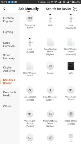 Figure 8 Adding sensor interface on the