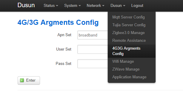 How to configure the gateway APN settings?