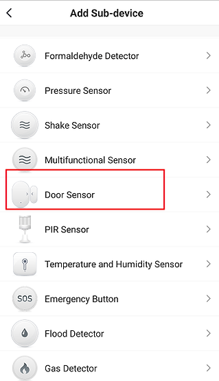 Figure 20 Door sensor adding interface-B