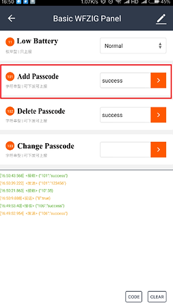 Figure 10 Adding password to the lock-B.