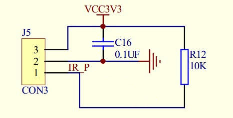 Schematic drawing of infrared receiver - Dusun