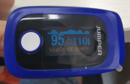 Figure 6 the oximeter device for testing