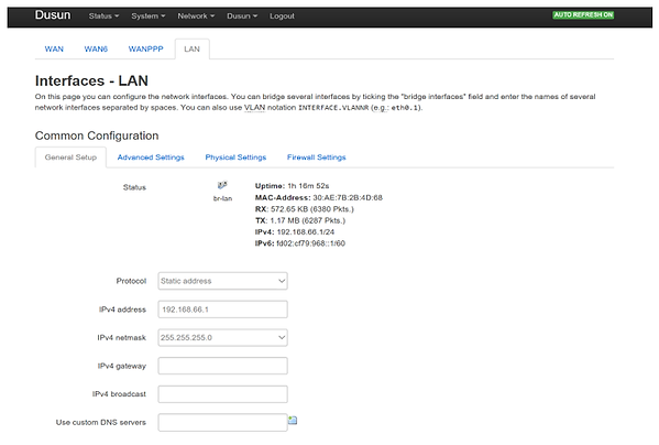 4.Configure network at the network sub-m