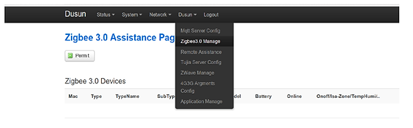 5.Change other settings, such as ZigBee