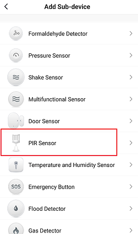 Figure 13 PIR sensor adding interface-B.