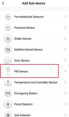 Figure 13 PIR sensor adding interface-B.