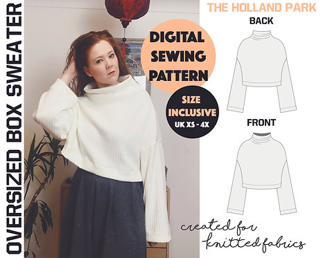 HOLLAND PARK SWEATER : PDF SEWING PATTERN