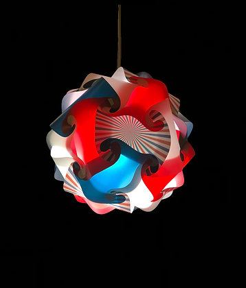 Red White & Blue pattern w/LED and Remote Control