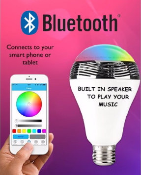 Bluetooth Speaker Bulb control with smartphone