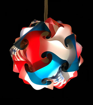 Red White & Blue Flag pattern w/LED and Remote