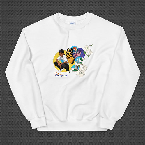 White Crew Sweater - Art