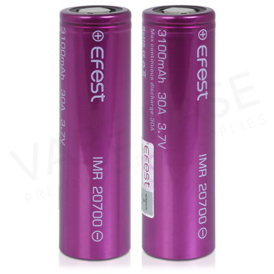 Efest IMR 20700 Rechargeable Vape Battery (Pair) (3100mAh, 30A)