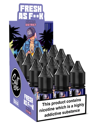 Fresh as F**k Salts - Purple District 10ml