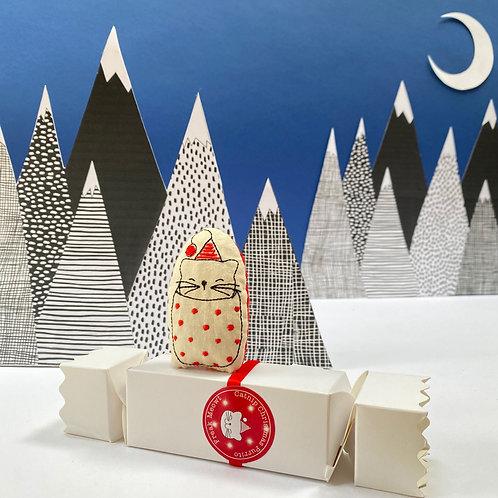 Catnip Christmas Purrito Cracker Cat Toy