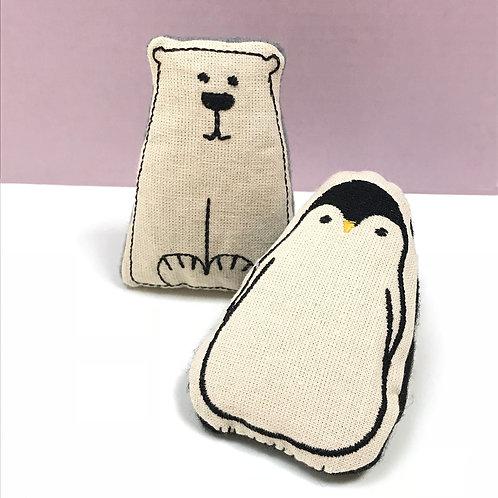 Catnip Penguin and Polar Bear Duo