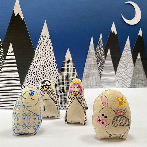 Catnip Nativity (Line of Mewty) Cat Toys