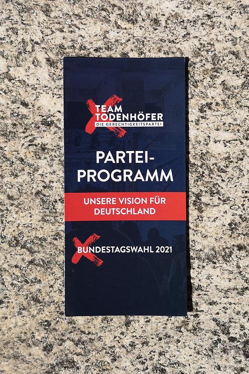 Flyer - Parteiprogramm