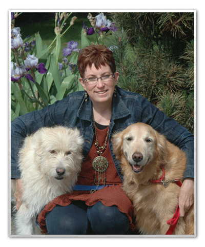 Oddie and Max with Karen
