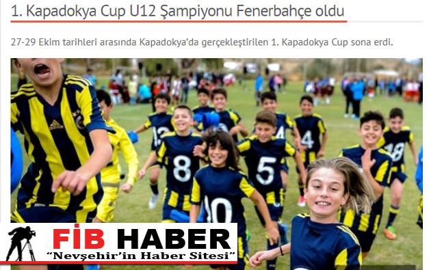 1. Kapadokya Cup U12 Şampiyonu Fenerbahçe oldu  haberi