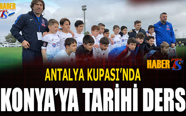 Konya'ya Dersini Trabzonspor'un Gençleri Verdi