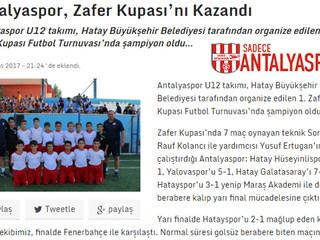 Antalyaspor, Zafer Kupası'nı Kazandı