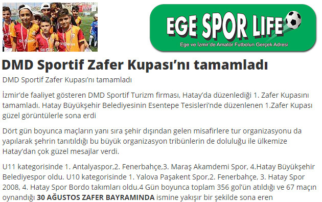 DMD Sportif Zafer Kupasını tamamladı haber