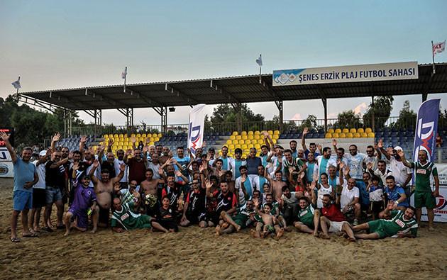 teos master cup plaj futbol turnuvası seferihisar akarca