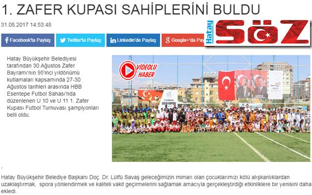 Zafer Kupası Futbol Turnuvasında kupa sahipleri haber