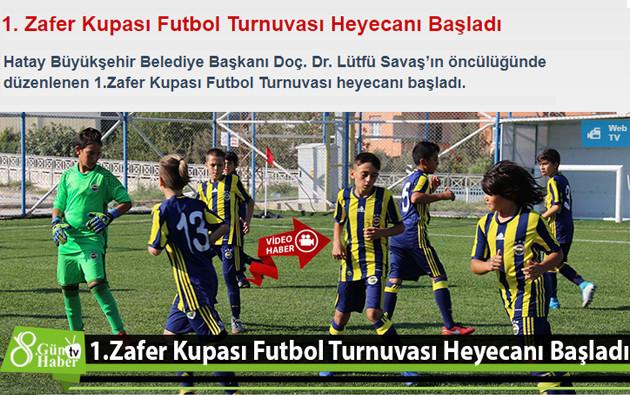 zafer kupası futbol turnuvası haber