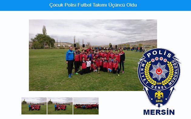 çocuk polisi futbol takımı üçüncü oldu haberi