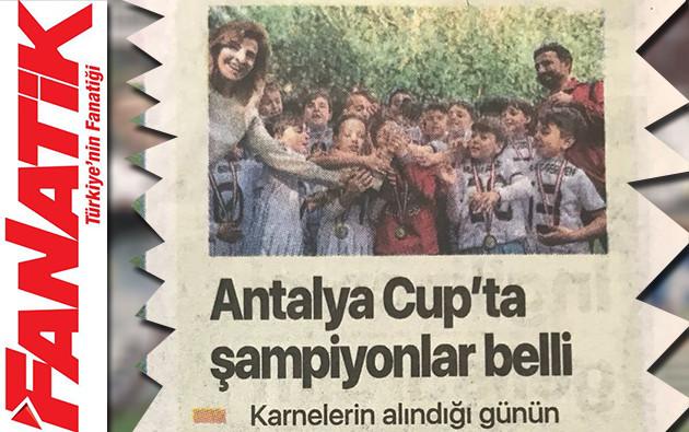 Antalya Cup'ta şampiyonlar belli