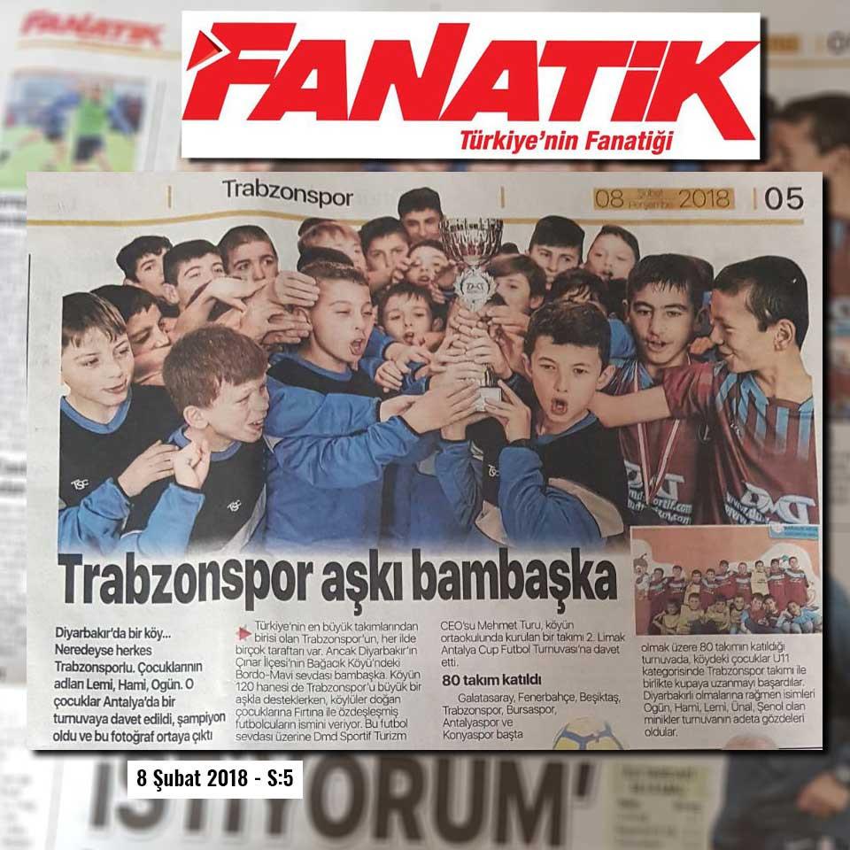 fanatik gazetesi trabzonspor diyarbakır bağacık dmd turizm haberi küpür