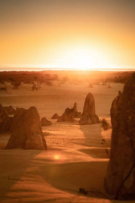 Landscapes - Pinnacles Sunset