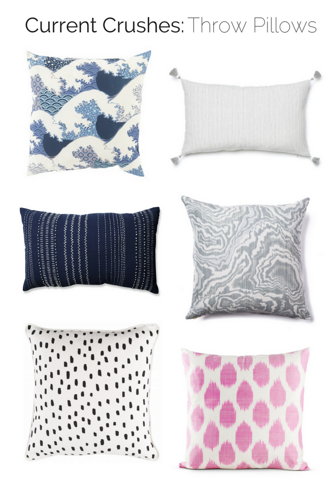 Current Crushes: Throw Pillows