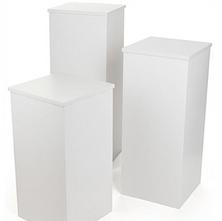 Modern white columns