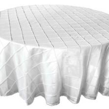 White Pintuck Table Cloth